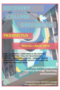 http://www.therecoveryplace.co.uk/wp-content/uploads/2019/02/Recovery-College-Mar-Apr-2019-Prospectus-Cover-240x360.png
